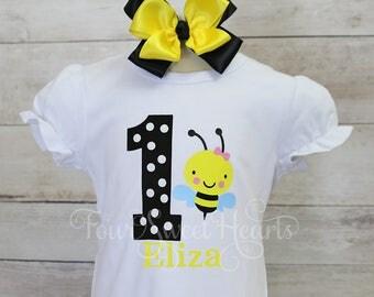 Bee First Birthday Shirt, Bumble Bee Birthday Shirt, Bee Day Birthday Shirt, Girls Birthday Shirt, Bee Birthday Shirt, Bumble Bee Shirt