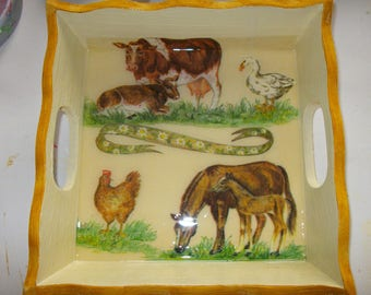 Small tray for cakes, cocktails, deco animals