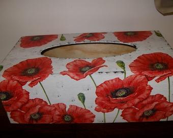 """Poppies"" tissue box"