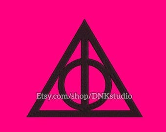 Deathly Hallows Symbol Embroidery Design - 6 Sizes - INSTANT DOWNLOAD