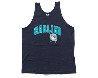 florida marlins champion tank top  mlb baseball throwback jersey 100% cotton champion jersey size large 90s vintage