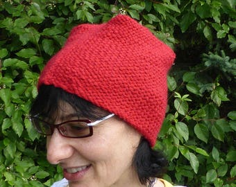 Red fez style hat