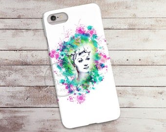 Watercolor Lucille Ball, I Love Lucy Phone Case, 3D Phone Case, Iphone 6 7 7+ Samsung Galaxy S5 Thin Hard Case, Personalized Mobile Full