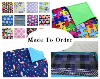 Custom guinea pig midwest fleece cage liner | hedgehog | 24 x 47 | guinea pig bedding | cage accessories | cage mats |  MADE TO ORDER