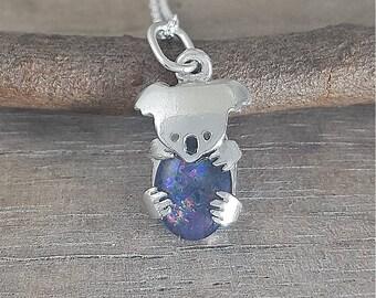 Sterling silver Koala necklace