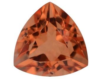 Imperial Orange Triplet Quartz Trillion Cut Loose Gemstone 1A Quality 12mm TGW 6.20 cts.