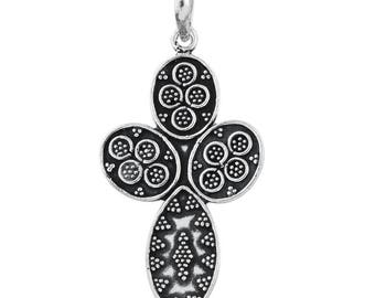 Cross Pendant Without Chain Sterling Silver