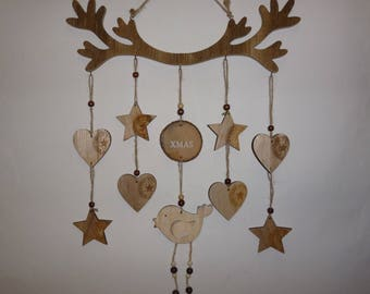 """Bird of Christmas"" door or wall Christmas hanging wooden wall hanging"