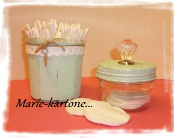 """Glass jars """"Solitaire"""" N 2 set of 2 Shabby style jars."""