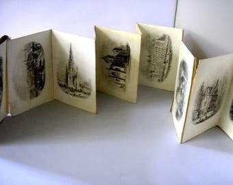 Brydone's Views of Edinburgh Scotland Antique lithographic prints VERY SCARCE 1855 black and white prints 13 lithographic prints rare (X)