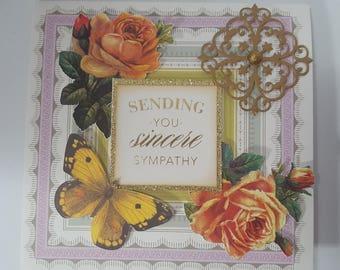 Sending sympathy greeting card