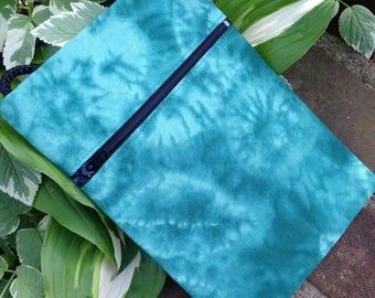 SALE -Green Tie Dye Mini Purse, Cell Phone Purse, Passport Pouch, Crossbody Sling Purse