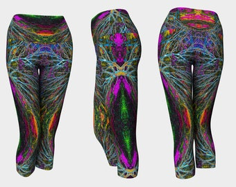 08115 Yoga Capri: Tree Photography, Yoga Leggings, Yoga Tights, Running Tights, Yoga Pants, Leggings
