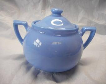 Blue Lipton's Tea Covered Sugar Bowl