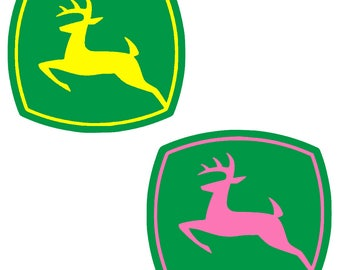 Vinyl John Deere Decal Sticker Any Color for cellphone yeti car window computer smartphone coffee cup macbook