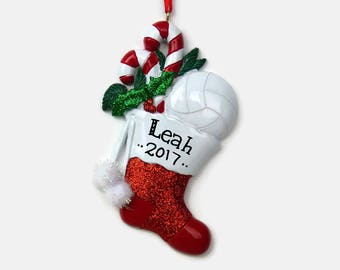 Volleyball Personalized Ornament - Hand Personalized Christmas Ornament