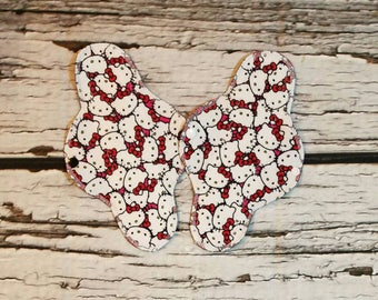 """SECONDS  10"""" Flannel Topped Cloth Panty Liner With Wings"""