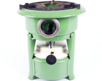 Original Vintage Georg Haller single wick stove enamel Kerosene burner Germany mid 1900's