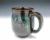 Metallic Green Blue Amber Mug (Medium - 15 oz.) - Reserved for Scott