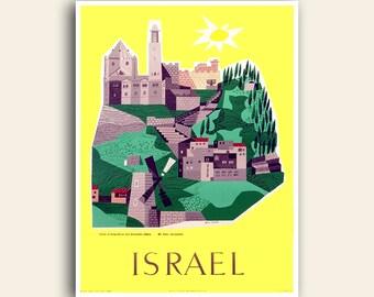 Israel Travel Print Poster Art Vintage Home Decor (XR1056)