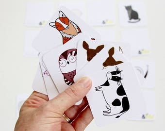Memory Card Game - Unique Designs - Made in Australia - Play Snap - Kids Animal Cards