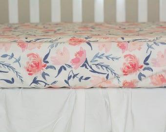 Rose crib bedding