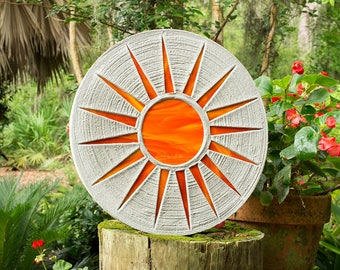 Bright Orange Sun Stepping Stone #531