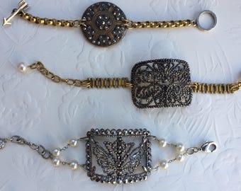 Antique French Buckle Bracelet