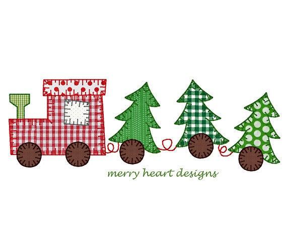Christmas Tree Train, Christmas Train Shirt, XMAS Train Shirt, XMAS Tree Train Applique, Boy XMAS, Boy Christmas