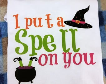 Witch Shirt, Kids Halloween Costume, Kids Halloween Shirt, Baby Girl or Boy Halloween Outfit, halloween costume kid