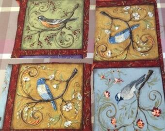 17 Pre Printed bird blocks