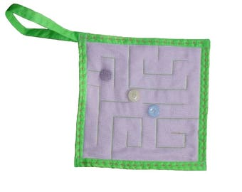 Dementia fidget toy, dementia aid, fidget aid for alzheimer, hospital gift, fine motor skills, alzheimers aid, pink and green