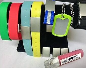 Bracelet Set with Metal Marking RED Marker