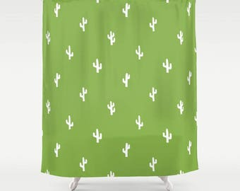 45 colors Cactus Shower Curtain, Cacti Shower Curtain, Cactus Bathroom Decor, Desert Shower Curtain Bathroom Decor, Kids Shower Curtain