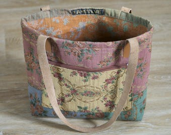 Flower Vintage fabric Tote
