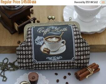 SALE Coffee clutch, coffee accessories, coffee gifts, Crossbody Bag, iPhone 7 crossbody, iPhone 6s Plus clutch, Girlfriend gift Women Mother