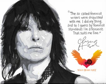 Chrissie Hynde - Drawing