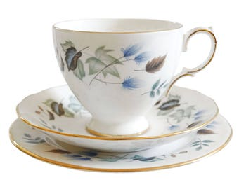 1960s trio - Colclough Linden - vintage tea cup and saucer and plate