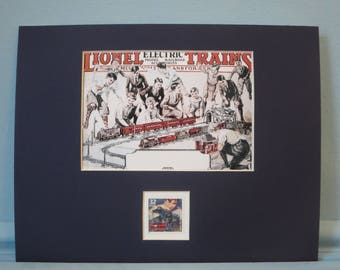 A Great Hobby -  Model Railroads and Lionel Electric Trains & the Electric Toy Train stamp