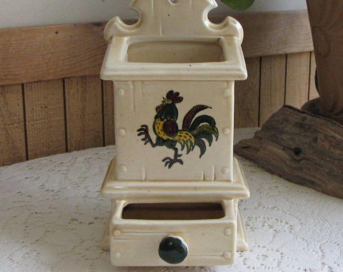 Metlox PoppyTrail California Provincial Match Box Holder Vintage Dinnerware Vernon California Pottery 1956-1982