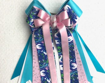 Equestrian Bows/Lilly Inspired Hair Accessory/Beautiful gift