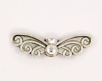 NICKEL free antique silver Butterfly spacer 2