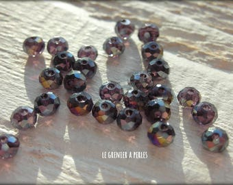 3 mm Amethyst AB Abacus beads X 50