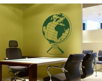 20% OFF Summer Sale World Globe wall decal, sticker, mural, vinyl wall art