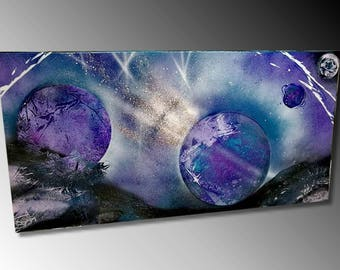 Blue space painting modern painting