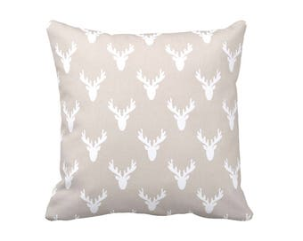 FREE SHIPPING: Taupe Pillow Cover Decorative Throw Pillow Decorative Pillows for Nursery Pillows Woodland Nursery Decor Rustic Nursery Decor