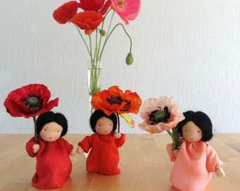 New colors! Poppy - Flower child for the Nature Table of Summer