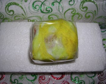 Felted soaps - WINNIPEG - yellow gold/white