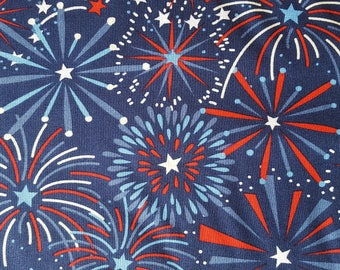 Stars Fireworks Cotton Fabric Sold by the yard