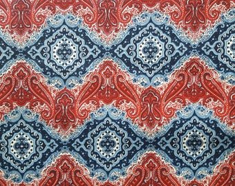 Patriotic Paisley Cotton Fabric Sold by the yard